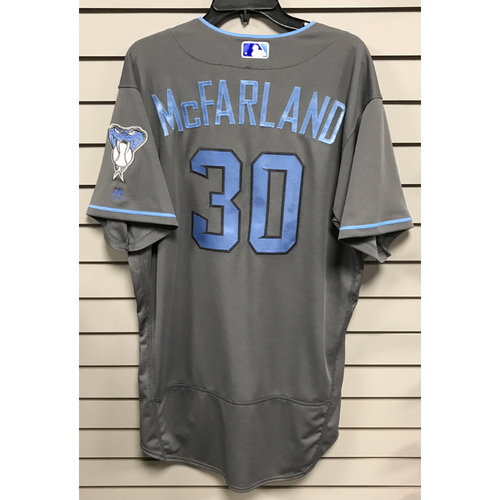 Photo of TJ McFarland Game-Used 2017 Father's Day Jersey