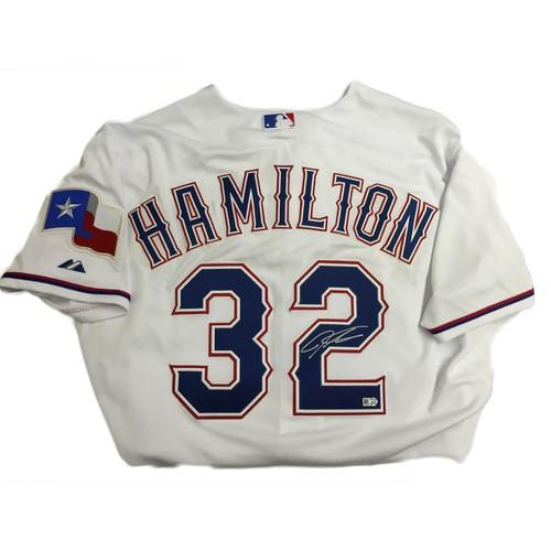 Photo of Josh Hamilton Autographed Texas Rangers Authentic Jersey