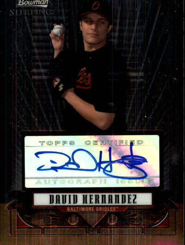 Photo of 2008 Bowman Sterling Prospects #DH David Hernandez AU