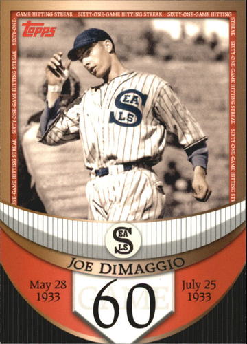 Photo of 2007 Topps DiMaggio Streak Before the Streak #JDSF60 Joe DiMaggio