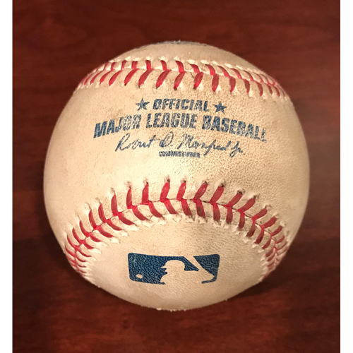 Photo of Game-Used Baseball - Ryan Braun Single vs. Rubby De La Rosa