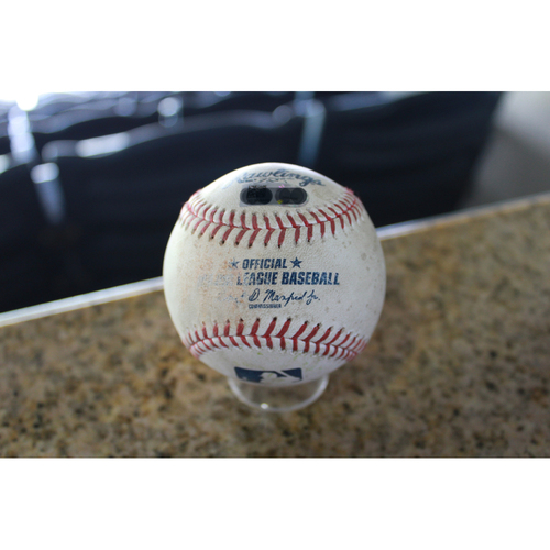 Photo of Game-Used Baseball: Austin Jackson 52nd Career Triple (CLE at KC - 8/20/17)