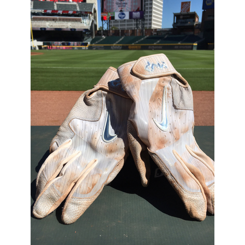 Photo of Harvey Relief Auction - Dansby Swanson Batting Gloves - White