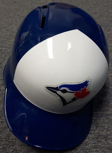Photo of Authenticated Game Used Helmet - #1 Raffy Lopez. Size 7 1/8.