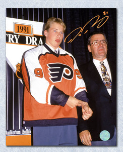 Peter Forsberg Philadelphia Flyers Autographed 1991 Draft Day 8x10 Photo *Philadelphia & Colorado*