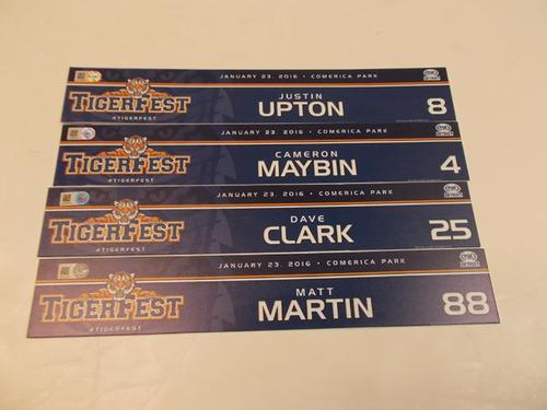 Photo of 2016 TigersFest Locker Name Plate Bundle: Justin Upton, Cameron Maybin, Dave Clark and Matt Martin