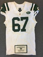 New York Jets - 2015 #67 Brian Winters Game Worn Jersey
