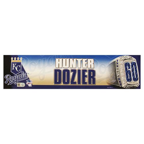 Photo of Hunter Dozier 2016 Locker Nameplate