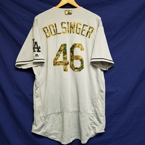 Photo of Mike Bolsinger 2016 Game-Used Road Memorial Day Jersey