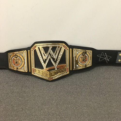 Photo of John Cena SIGNED WWE Championship Replica Title