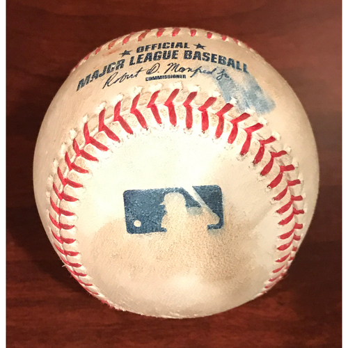 Photo of Game-Used Baseball - Brandon Drury Double vs. Phil Coke