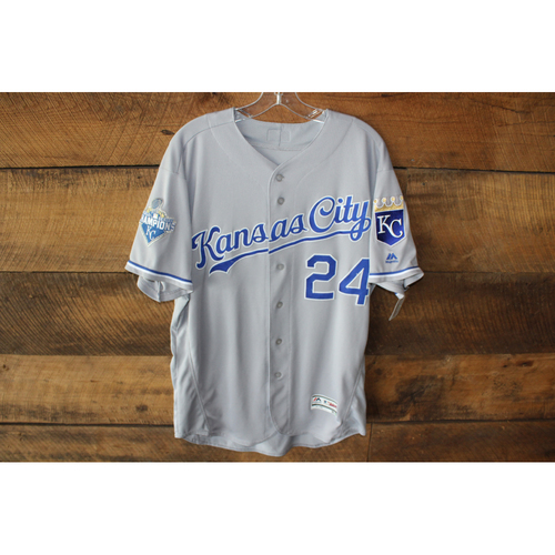 Photo of Christian Colon Game-Used Jersey (6/29/16 KC @ STL) (Size 46)