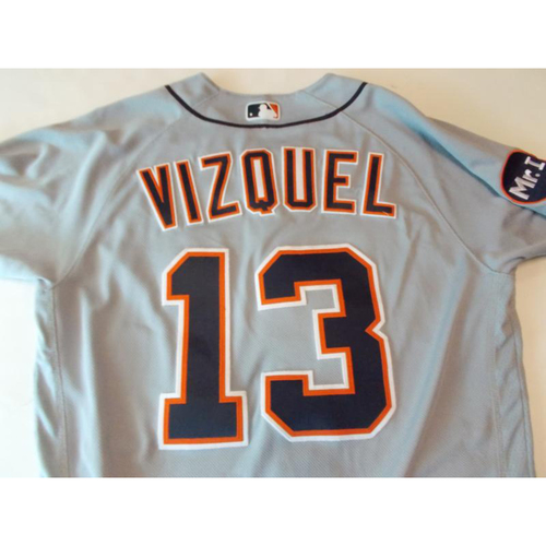 Photo of Game-Used Omar Vizquel Road Jersey