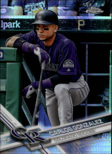 Photo of 2017 Topps Chrome Prism Refractors #76 Carlos Gonzalez