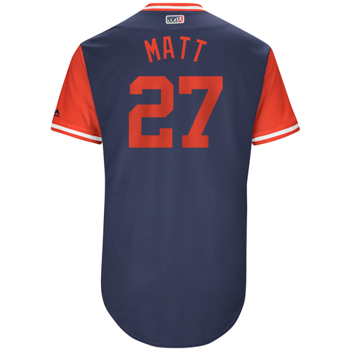 "Photo of Matt ""Matt"" Kemp Atlanta Braves Game-Used Players Weekend Jersey"