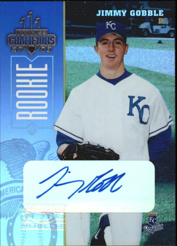 Photo of 2003 Donruss Champions Autographs #130 Jimmy Gobble/400