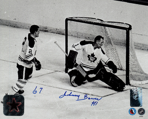 Johnny Bower Autographed Toronto Maple Leafs