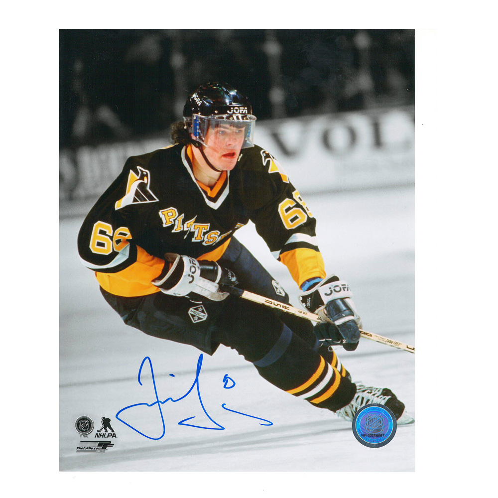 JAROMIR JAGR Signed Pittsburgh Penguins 8 X 10 Photo - 70070