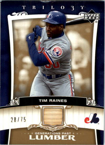 Photo of 2005 Upper Deck Trilogy Generations Past Lumber Gold #TR Tim Raines/75