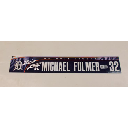 Photo of Michael Fulmer Autographed Locker Name Plate