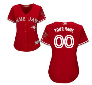 Toronto Blue Jays Customizable Women's Cool Base Replica Alternate Red Jersey