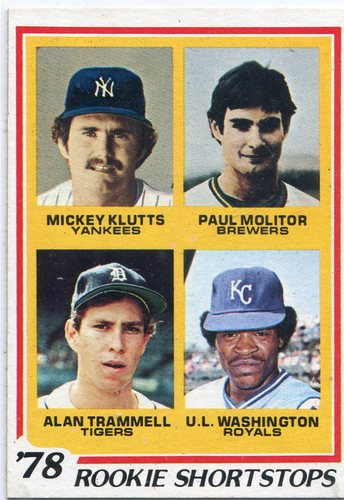 Photo of 1978 Topps #707 Rookie Shortstops Paul Molitor Alan Trammell