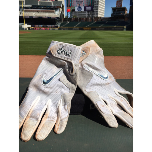 Photo of Harvey Relief Auction - Dansby Swanson Batting Gloves - Gray