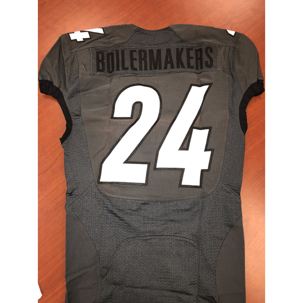 Gray Purdue Boilermakers #24 Football Jersey Size38