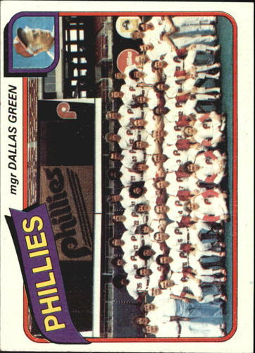 Photo of 1980 Topps #526 Philadelphia Phillies CL/Dallas Green MG