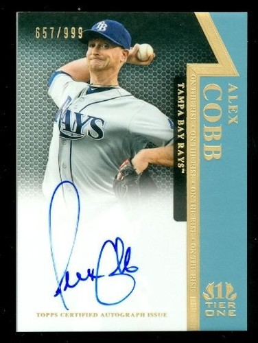 Photo of 2011 Topps Tier One On The Rise Autographs #AC Alex Cobb/999
