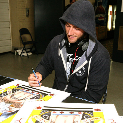 CM Punk Autographed & Framed