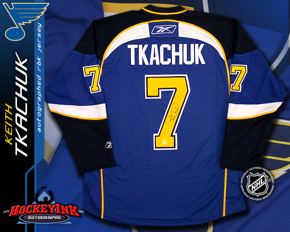KEITH TKACHUK Signed RBK Premier St. Louis Blues Blue Jersey