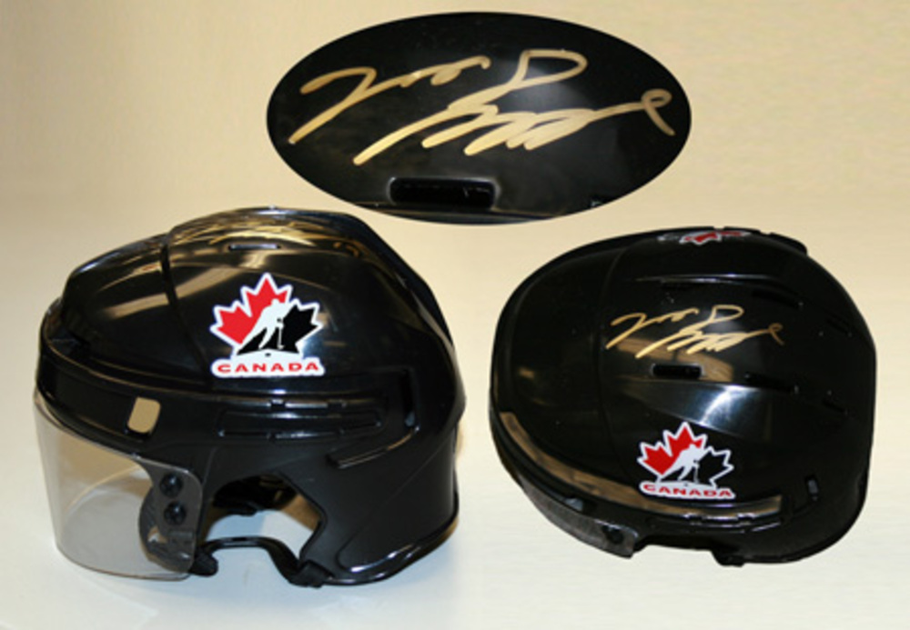 Jason Spezza Signed Mini Helmet Team Canada 5