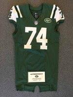New York Jets - 2015 #74 Nick Mangold Game Worn Jersey