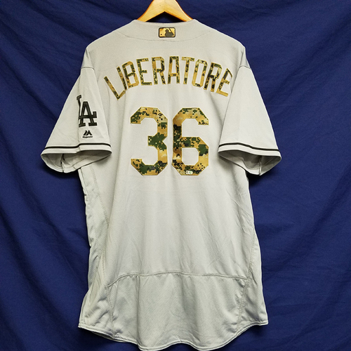 Photo of Adam Liberatore 2016 Game-Used Road Memorial Day Jersey