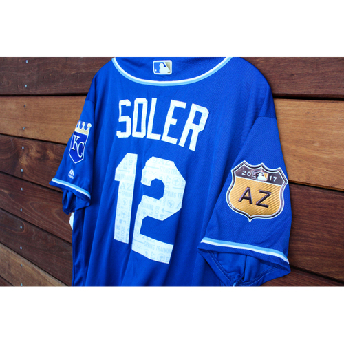 Photo of Jorge Soler 2017 Spring Training Jersey (Size 48)
