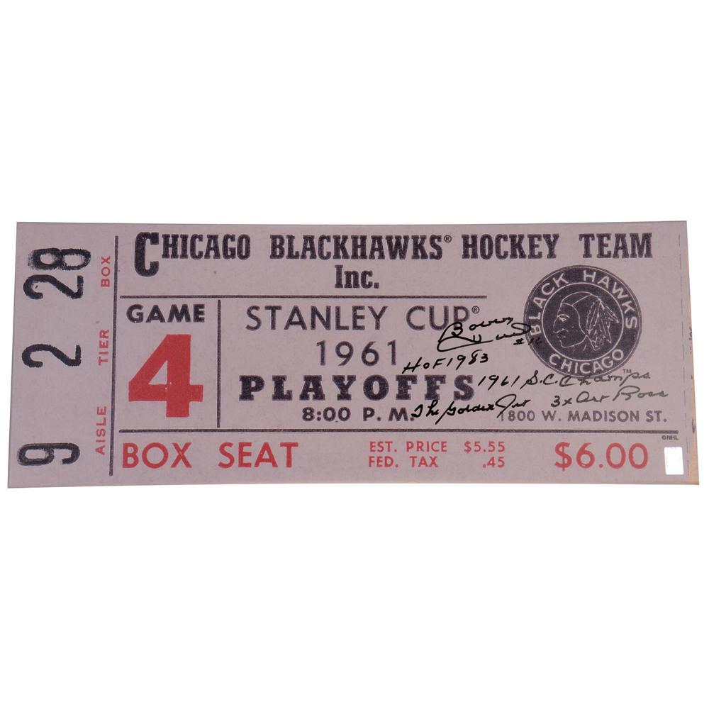 Bobby Hull Chicago Blackhawks Autographed 12
