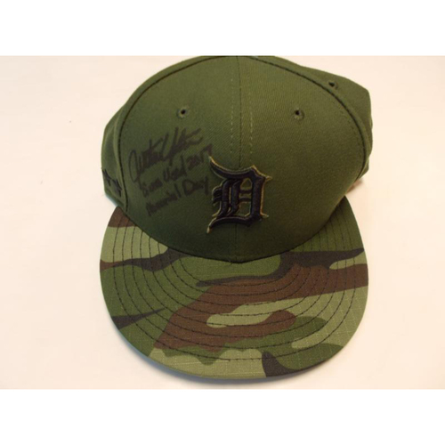 Photo of Autographed Game-Used Justin Upton Memorial Day Cap