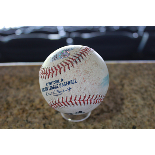 Photo of Game-Used Baseball: Francisco Lindor 433rd Career Single (CLE at KC - 8/19/17)