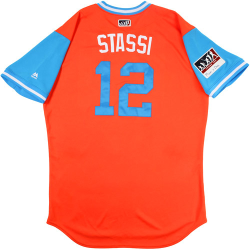 "Photo of Max ""Stassi"" Stassi Houston Astros Team-Issued Players Weekend Jersey"