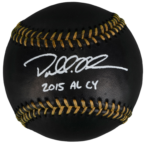 Photo of Dallas Keuchel Houston Astros Autographed Black Leather Baseball with 2015 AL CY Inscription