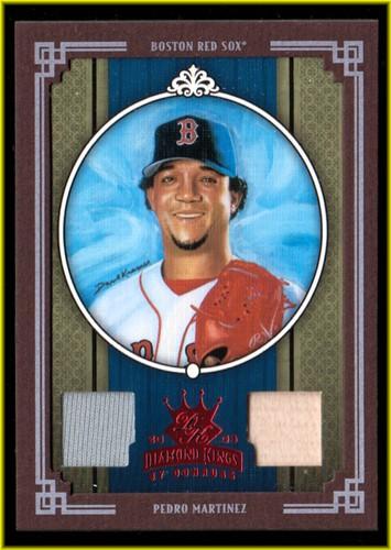 Photo of 2005 Diamond Kings Materials Framed Red #41 Pedro Martinez Bat-Jsy/100