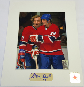 Steve Shutt Signature Montreal Canadiens CELEBRATION 8x10 Custom Matted Photo
