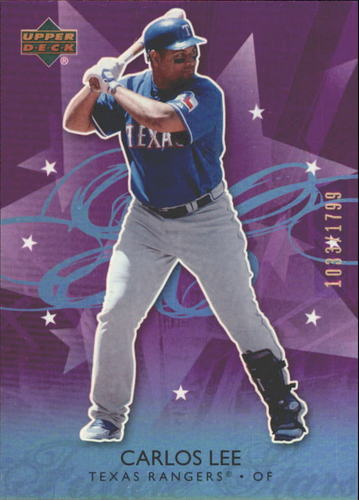 Photo of 2006 Upper Deck Future Stars Purple #37 Carlos Lee