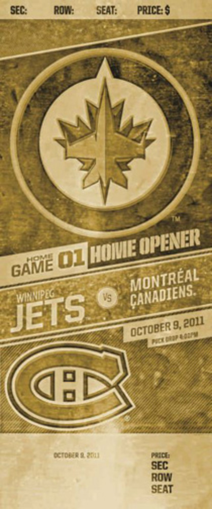 Inaugural Game 2011 Bronze Ticket