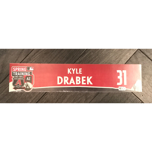 Photo of Kyle Drabek 2016 Team-Issued Spring Training Locker Tag
