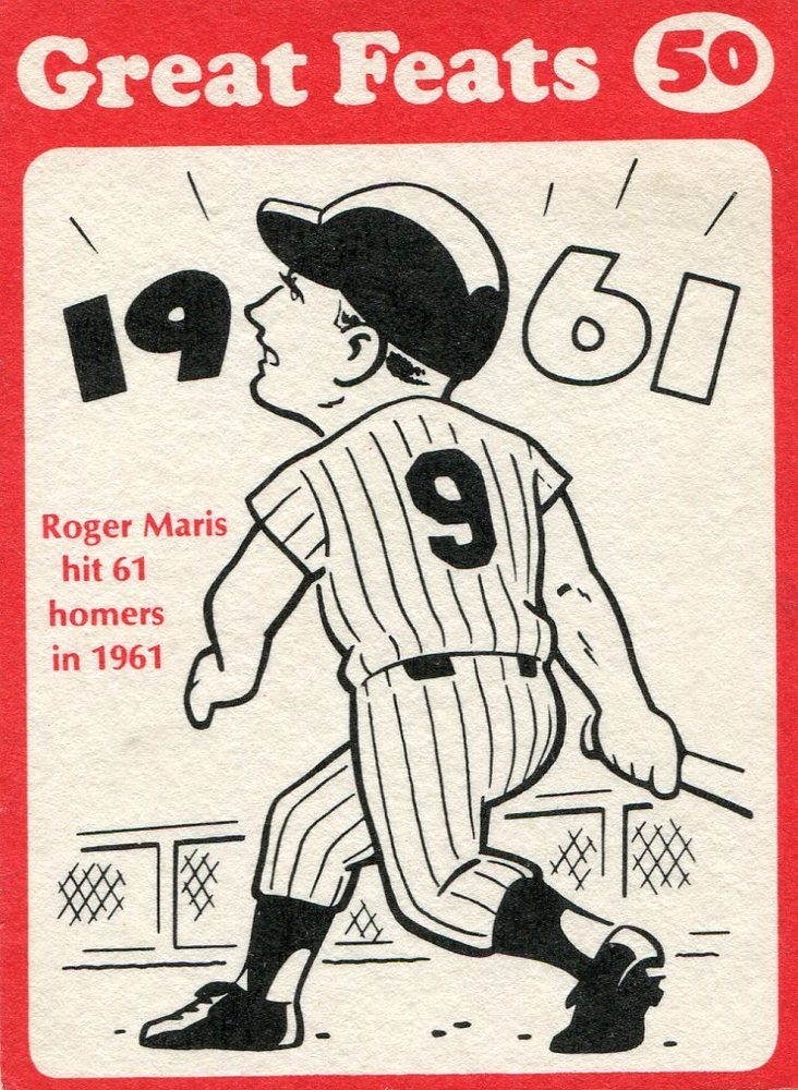 1972 Laughlin Great Feats #50 Roger Maris