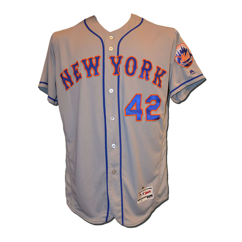 Photo of Pat Roessler #6 - Game Used Jackie Robinson Jersey - Mets vs. Marlins - 4/15/17