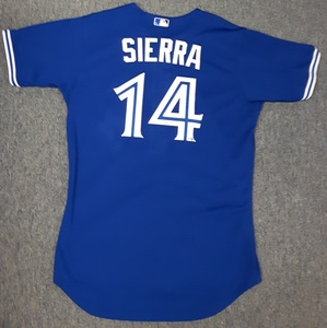 Toronto Blue Jays Authenticated Game Used 2012 Jersey - #14 Moises Sierra