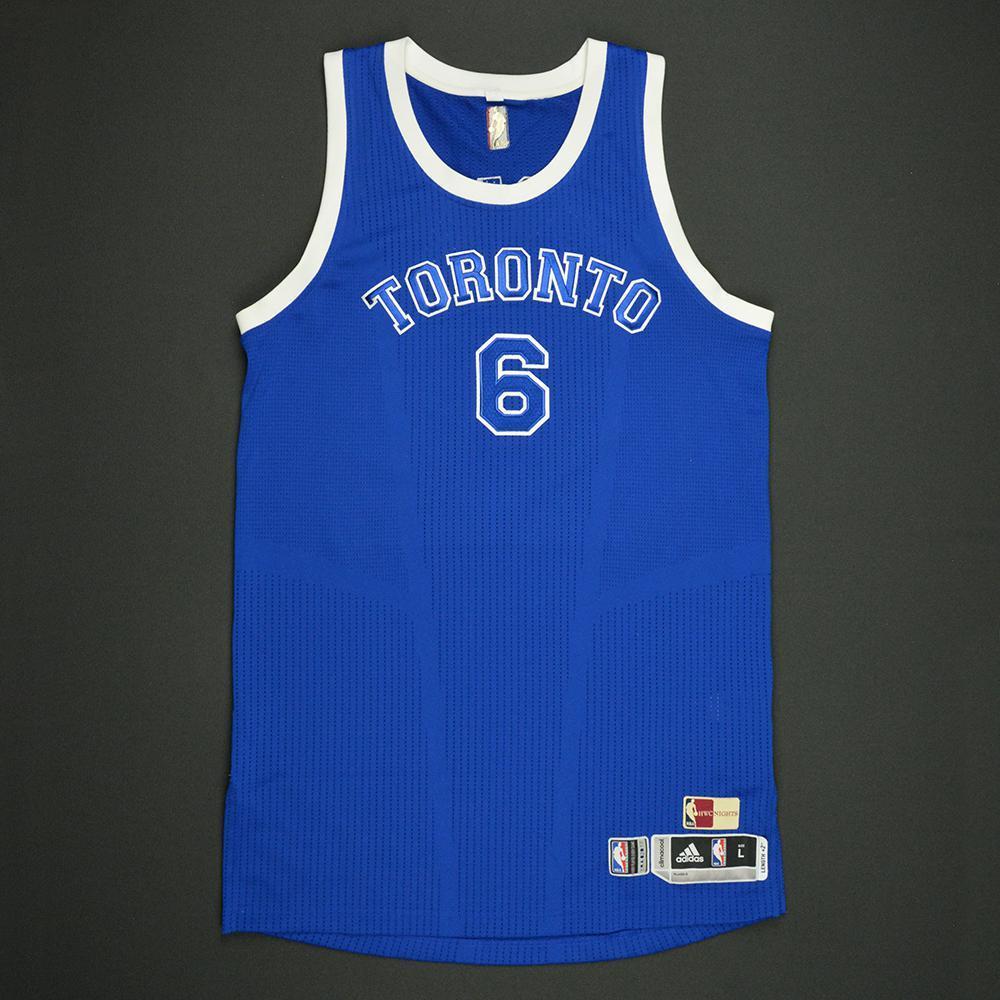 Cory Joseph - Toronto Raptors - Game-Worn Blue '1946-47 Road Hardwood Classics' Jersey - 2016-17 Season
